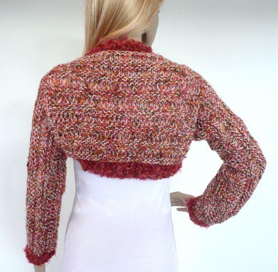 Shrug Sweater Hand knit Bolero Unique by SallyAnnaBoutique on Etsy, $120.00