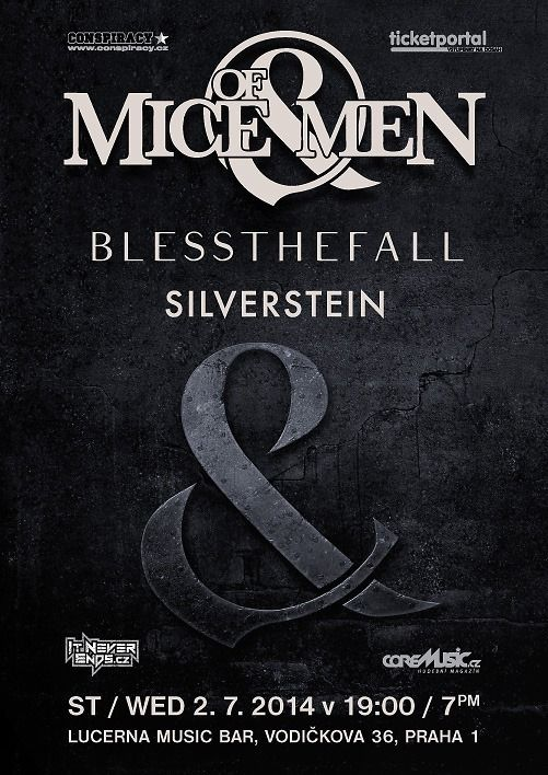 Of Mice & Men, Blessthefall a Silverstein