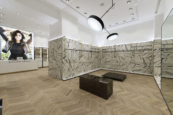 """Il """"Marble Concept"""" studiato da Fabio Caselli Design interpreta lo stile e il mood di Silvian Heach,un brand contemporaneo ,giovane, eclettico e sempre..."""