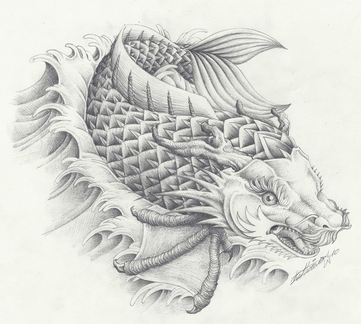 38 best images about koidragon on Pinterest | On back, Koi ...