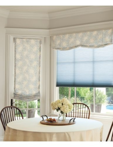 New luxe linen 3 4 light filtering honeycomb shades for Linen shades window treatments