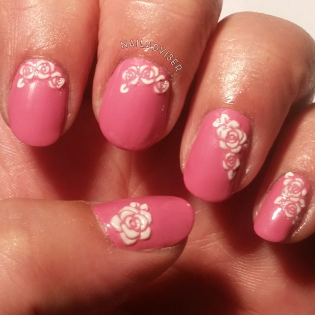 31 Day Nail Art Challenge 2014 - Flowers, nail art stickers, roses