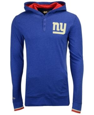 Mitchell & Ness Men's New York Giants Seal The Win Long Sleeve Hoodie - Blue/Red XXL