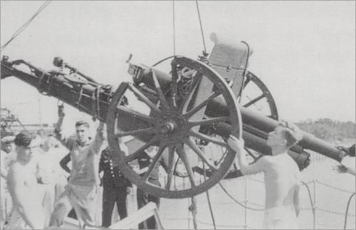 The cannon from Westerplatte.