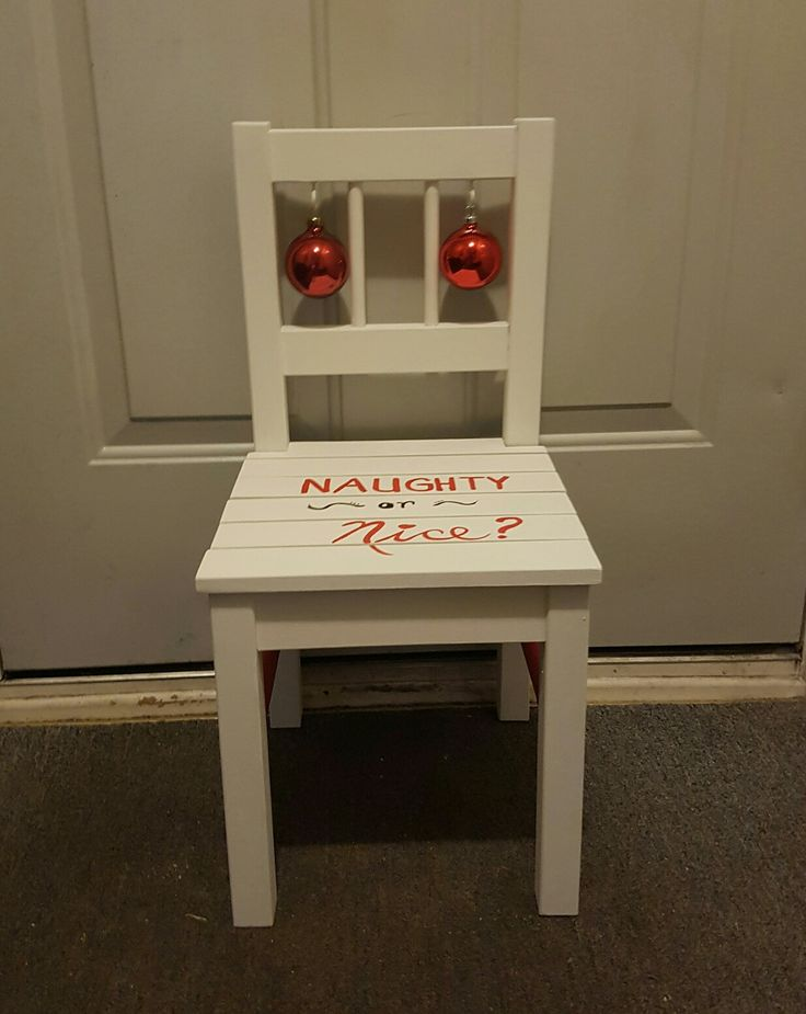 Have you been naughty or nice? Toddler sized chair ready for a little bum.