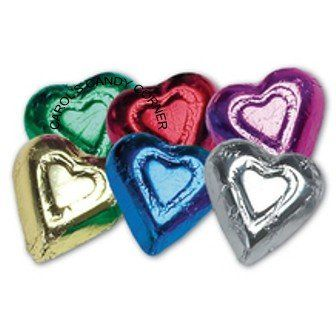 Rainbow Milk Chocolate Hearts - http://bestchocolateshop.com/rainbow-milk-chocolate-hearts/