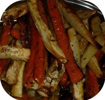 Sült paleo zöldséghasábok