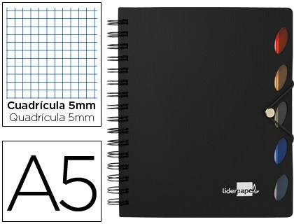 Bloc Din A5 espiral serie Executive Liderpapel  http://www.20milproductos.com/papeleria/blocs-y-cuadernos/liderpapel-serie-executive-microperforado-4.html