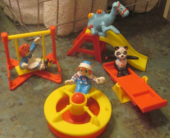 Raggedy Ann & Andy 1989 McDonalds Playground Toys by LeftoverStuff, $25.00
