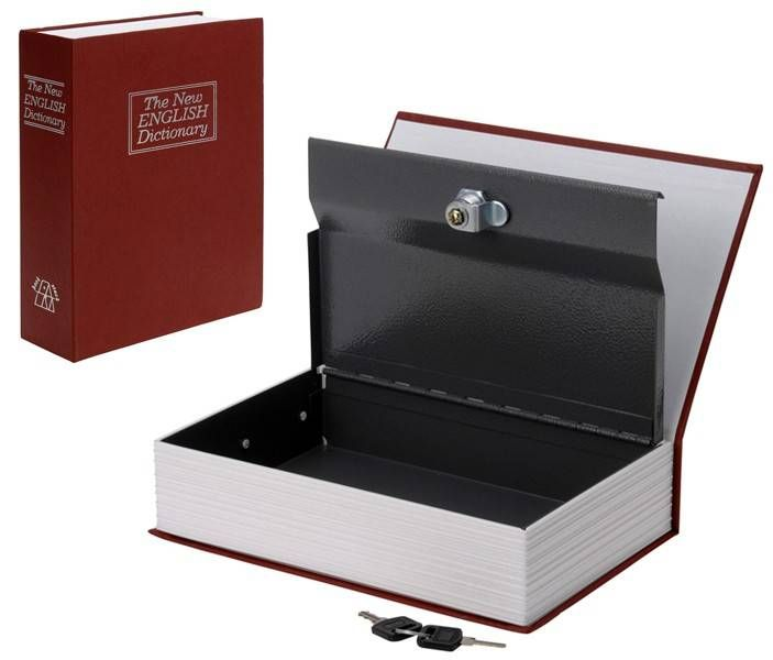 Metalen kluis in boek (Rood) #kuis #boekkluis #boekenkluis