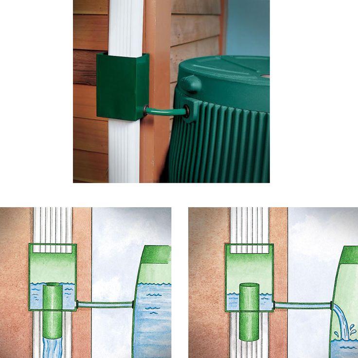 Dispositivo instalado em calha desvia a água da chuva à um reservatório para que possa ser reutilizada - Hiper Original