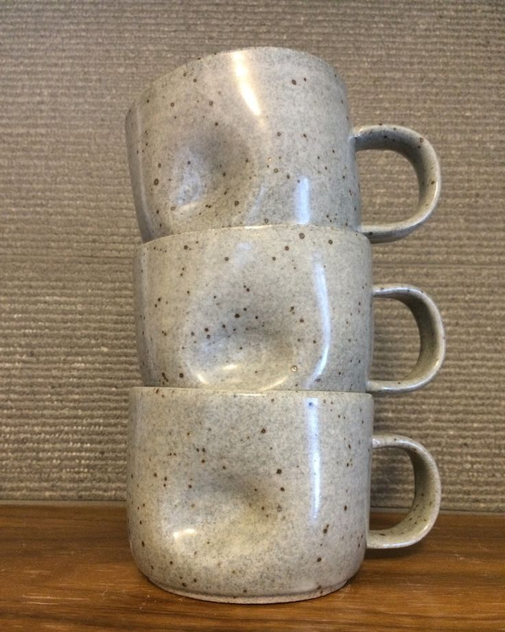 A personal favorite from my Etsy shop https://www.etsy.com/ca/listing/250826108/grey-speckled-mug