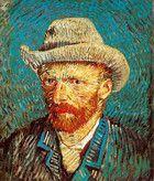 Van Gogh autoritratto con cappello di felcro grigio