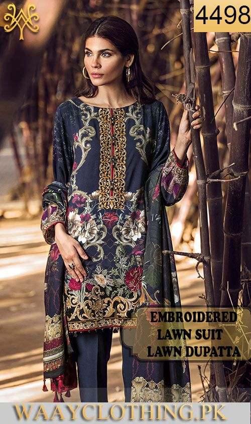 9ec1244e50 Wybr-4498 - full embroidered designer 3pc lawn suit with lawn ...