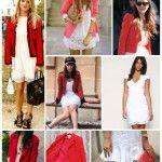 Look blanco, dorado y rojo para el casamiento civil