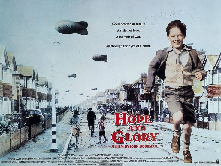 Hope and Glory (1987) - It took 20 years for John Boorman to write and direct an autobiographical film: the war years that he lived through as a child of seven in suburban London by the river Thames. As expected, the point of view is strikingly original, the Blitz being perceived by the young boy as a cheery experience, all fireworks and plunder in the ruins of houses. Warm and funny, and a key to his cinema.