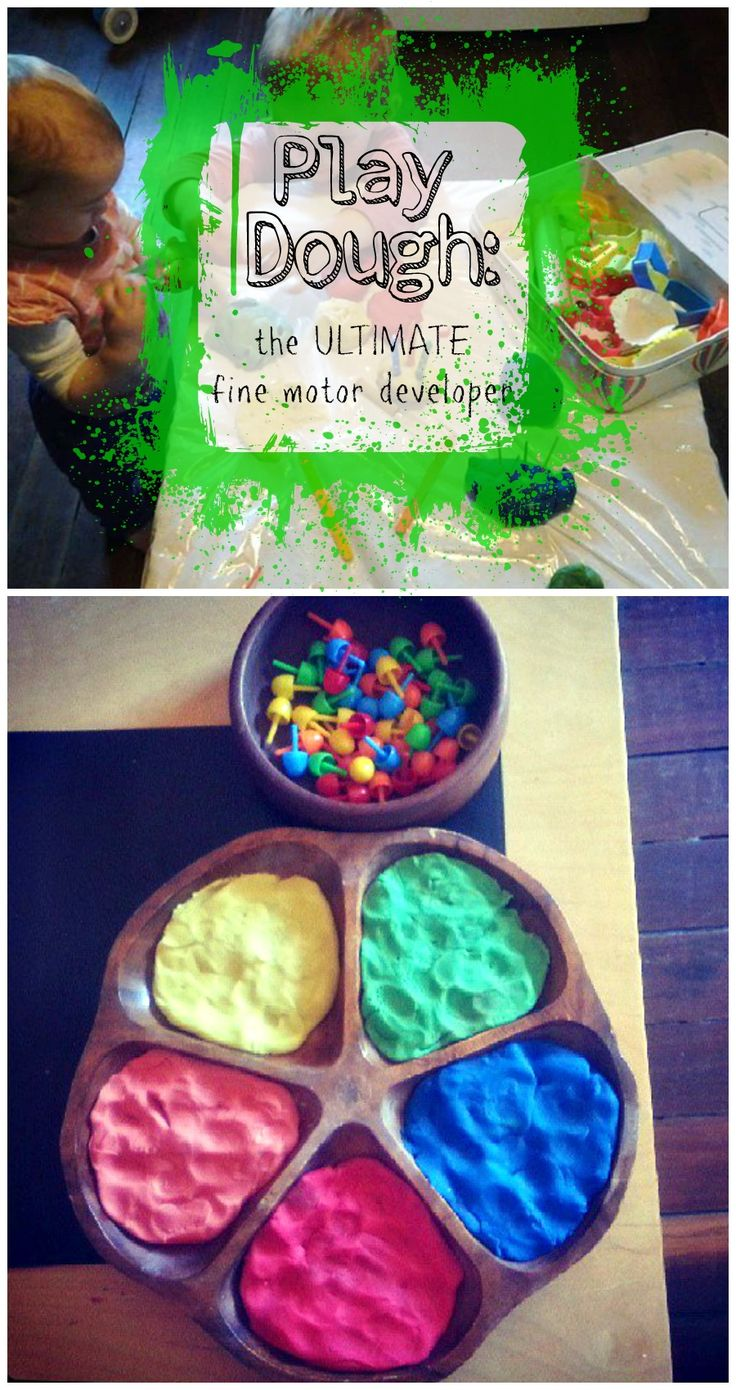 Playdough and pegs colour matching fine motor activity