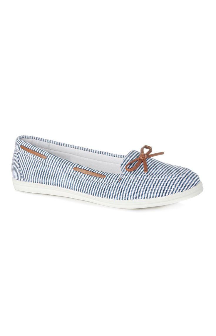Primark - Sapatos de vela às riscas azul