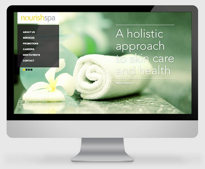 Nourish Spa Website