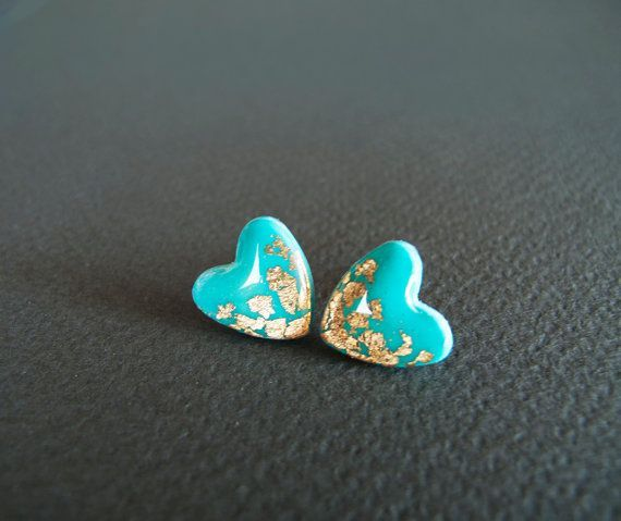 Tiffany Heart Stud Earings
