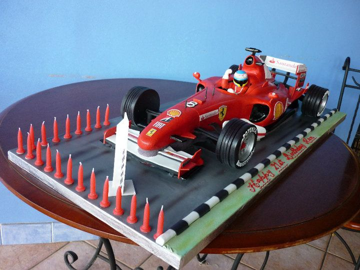 Ferrari racing car cake images for F1 car cake template