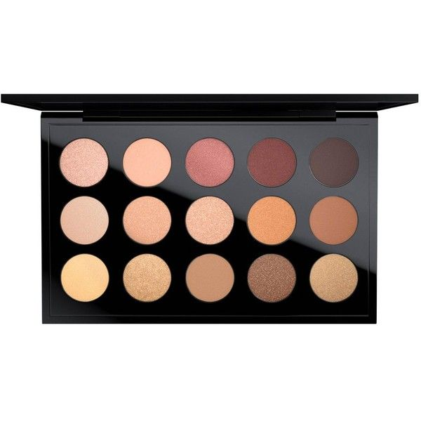MAC Eye Shadow x 15, Eyes on MAC Collection (€55) ❤ liked on Polyvore featuring beauty products, makeup, eye makeup, eyeshadow, beauty, fillers, palette, warm neutral, mac cosmetics eyeshadow and mac cosmetics