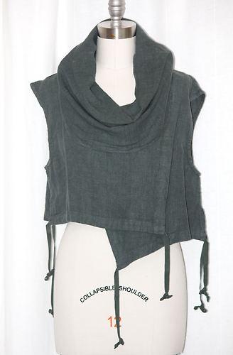 Bryn Walker Heavy Flax Linen Pennie Vest Lagenlook Top s M M L L XL XL 1x Jasper | eBay
