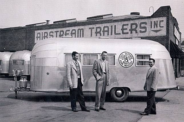 Airstream goes to war as a civil defense vehicle for atomic tests!