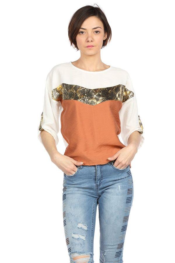Yilan Detayli Bluz Kapida Odemeli Ucuz Bayan Giyim Alisveris Sitesi Modivera Giyim Moda Stilleri Bluz
