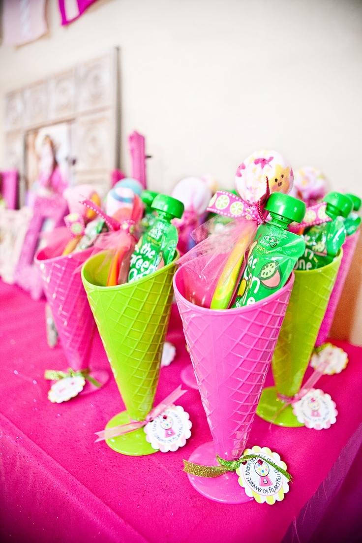 .: Party Favors, Birthday Parties, Shoppe Birthday, Pink Sweet, Ice Cream, Party Ideas, Birthday Party