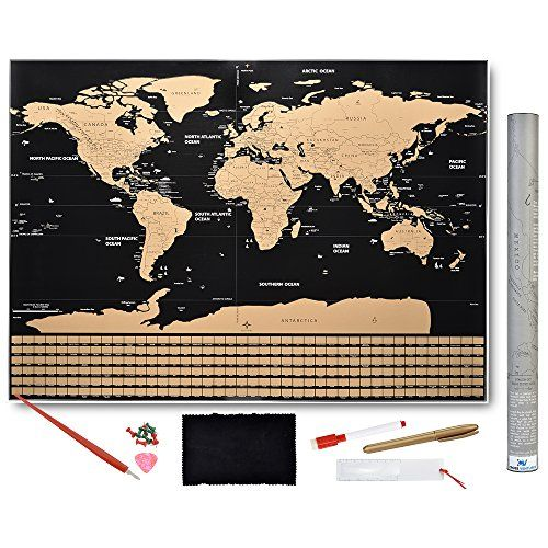 The 25 best world maps with countries ideas on pinterest show scratch off world map poster with country flags and us states track your adventures includes pen scratcher gold marker magnifying glass and memory gumiabroncs Image collections