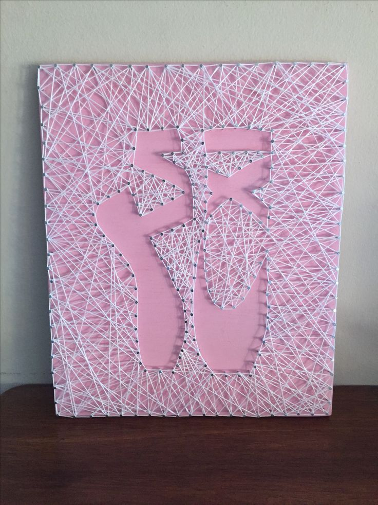 Ballet Point Shoes String Art