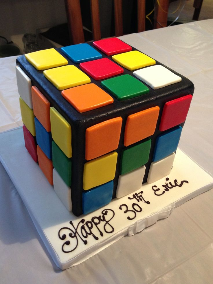28 best Rubiks cube cake images on Pinterest Rubiks cube