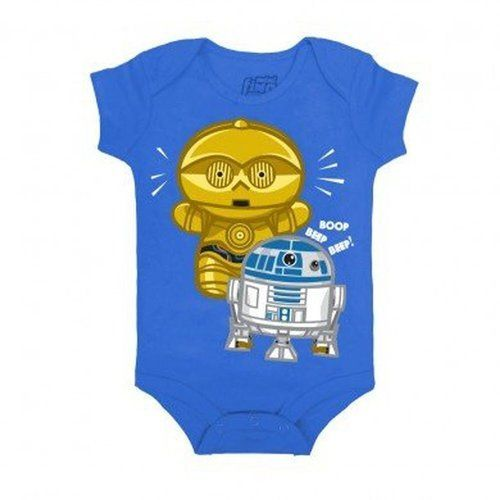 Star Wars Cute Droid Baby Romper Onesie