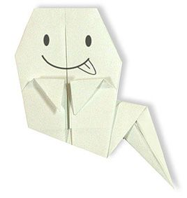 Origami ghost for beginners diagram & video