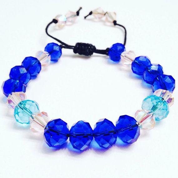 Shamballa Bracelet Indigo  Macrame Bracelet  by OurUniverseShop