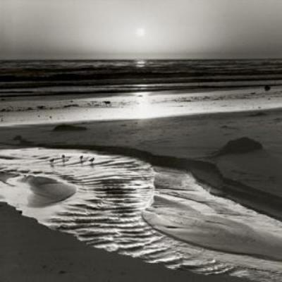 Ansel Adams~ I don't know where this was taken, but I've been on Agate Beach on days when it looks just like this.