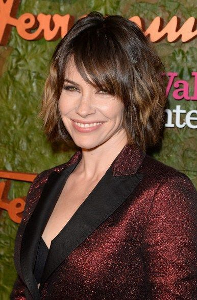 Evangeline Lilly Short Haircut 2015 - Bob Hairstyle with Bangs
