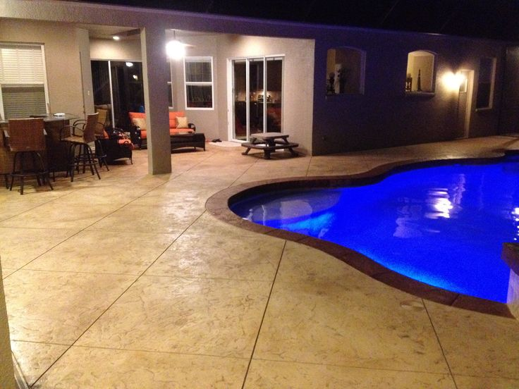 This Striking Pool Deck And Patio Features The Full Array