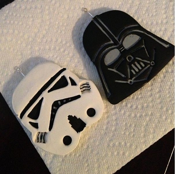 Polymer Stormtrooper and Darth Vader by prettyinskulls.deviantart.com on @deviantART