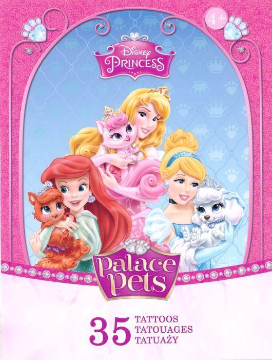 TREFL Tetování - Disney princezny a mazlíčci 35 ks, masky a barvy na obličej - Dětské hry, karneval