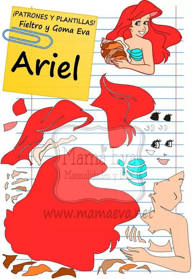 Plantilla de Ariel Disney