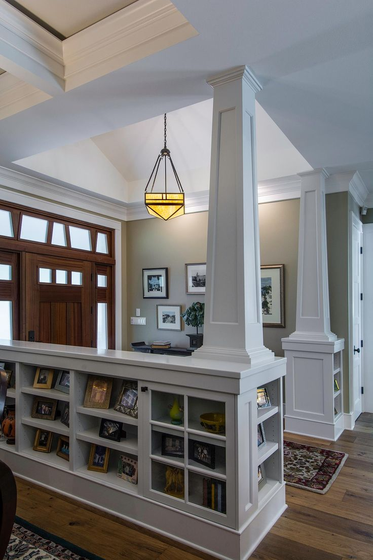 craftsman dining room with dining table french doors and crown molding
