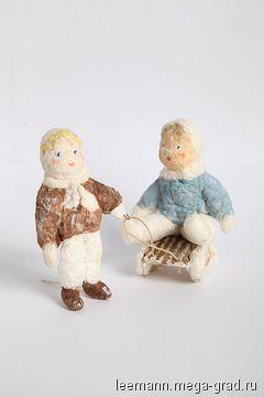 Ёлочные игрушки из ваты - изделия в винтажном стиле, авторская кукла. МегаГрад - портал авторской ручной работы