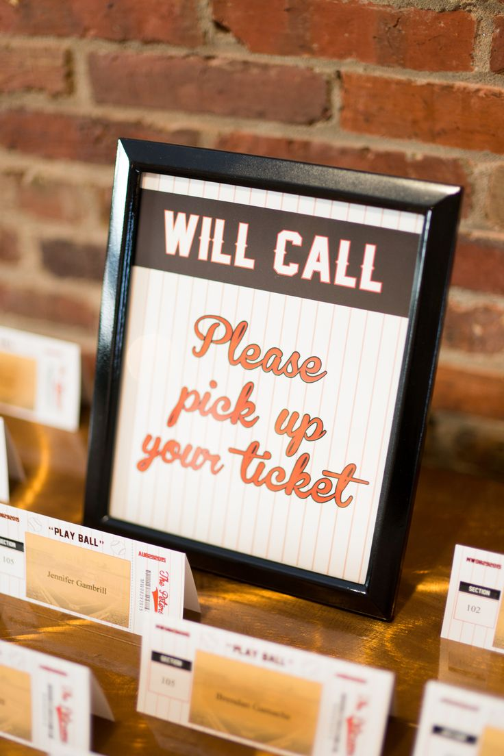 Give guests a game ticket in place of a traditional reception place card.
