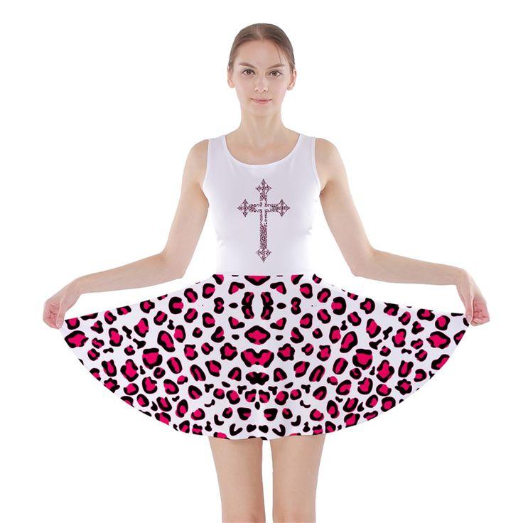 op catsuit template leopard hp Skater Dress