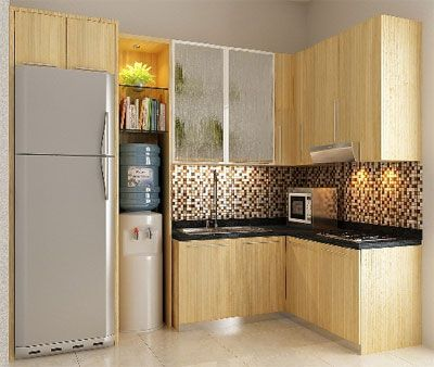 modern and minimalist kitchen set di Bali info: 0817351851