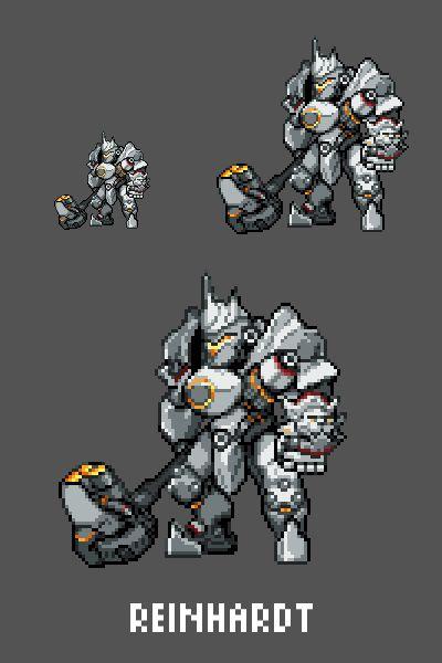 [Pixel Art] - Reinhardt Wilhelm Overwatch Sprite Twitter: pic.twitter.com/oFKvdCU5WL