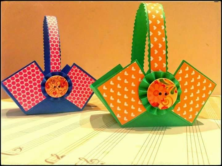 Learn How to Create these paper baskets which are great for any occasion, and it would look especially great on Easter filled with chocolates and candies. Your family and friends will definitely love it when you make them this adorable paper baskets.