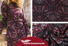 stoffe-hemmers: Schöner fester, elastischer Modestoff mit unifarbener schwarzer Rückseite, mit schickem Paisley-Ornamenten-Muster. Garantiert ein neuer Lieblingsstoff!  #paisley #stoffe #viskosejersey #nähenfürmich #nähblog #nähblogger #myimage #trend #stoffehemmers
